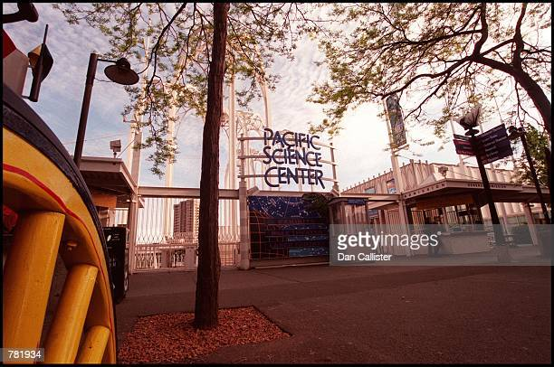 The front entrance of the Pacific Science Center is viewed May 30 2000 in Seattle WA The center has received millions of dollars in donations from...