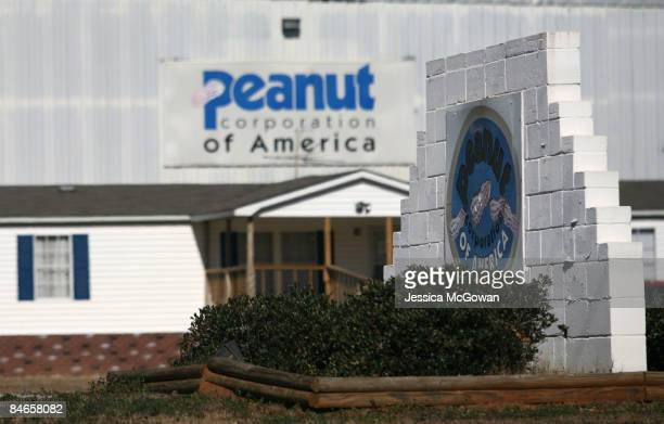 The front entrance of the Peanut Corporation of America Plant is seen February 5 2009 in Blakely Georgia The plant is linked to a nationwide...