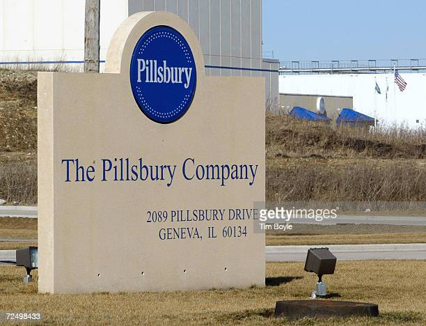 The front entrance of the Pillsbury plant that will close February 25, 2002 is shown February 22, 2002 in Geneva, IL. General Mills Inc., the maker...