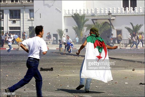 The Front for Socialist Forces organized demonstration in Algiers In Algiers Algeria On May 31 2001