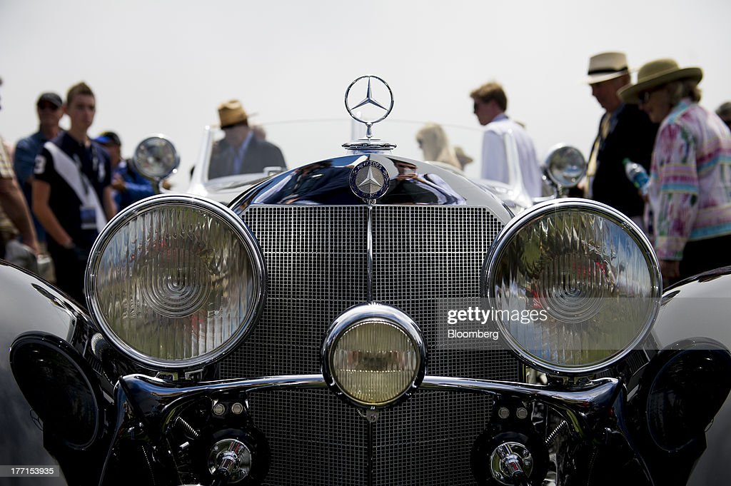 The Front Grill Of A 1936 Mercedes Benz 540k Special Roadster Is