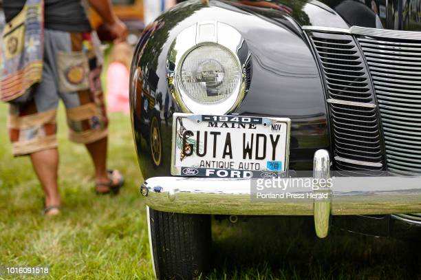 The front of a 1940 Woody owned by LF 'Sonny' Perkins of York at the 7th annual Woodies in the Cove Car Show hosted by the Historical Society of...