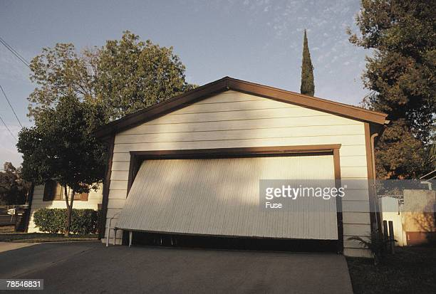 The front of a private garage