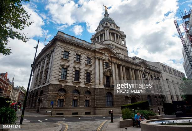 The front of the Central Criminal Court commonly referred to as The Old Bailey is pictured in central London on August 21 2016 Over the centuries the...