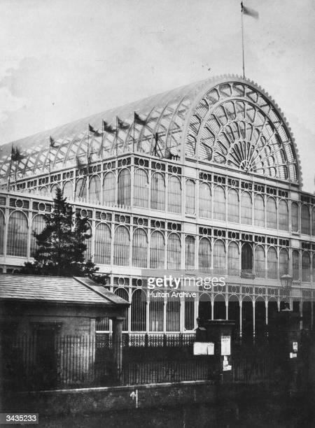 The front of the Crystal Palace in London's Hyde Park The massive iron and glass structure was designed by Sir Joseph Paxton as the venue for the...