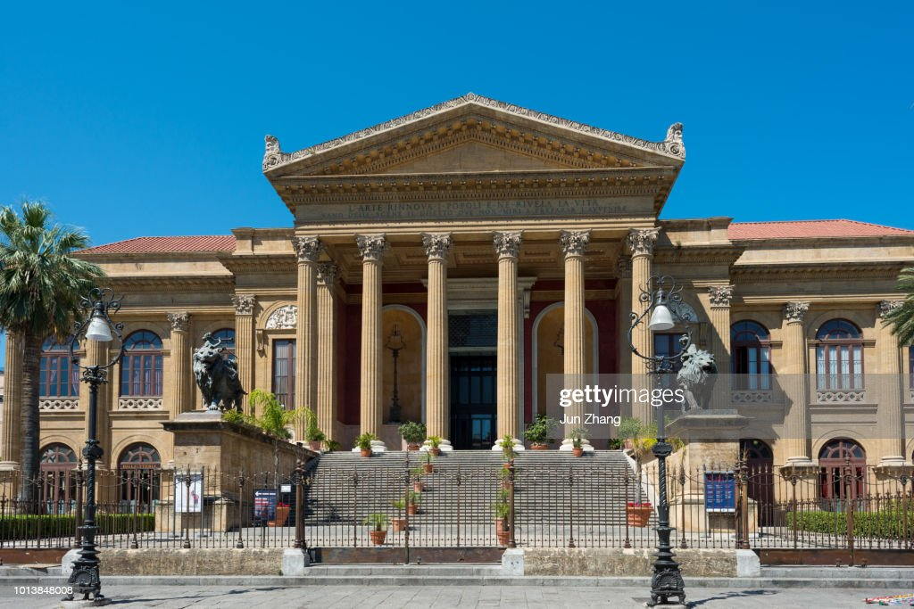The Front Of The Famous Opera House Teatro Massimo In ...