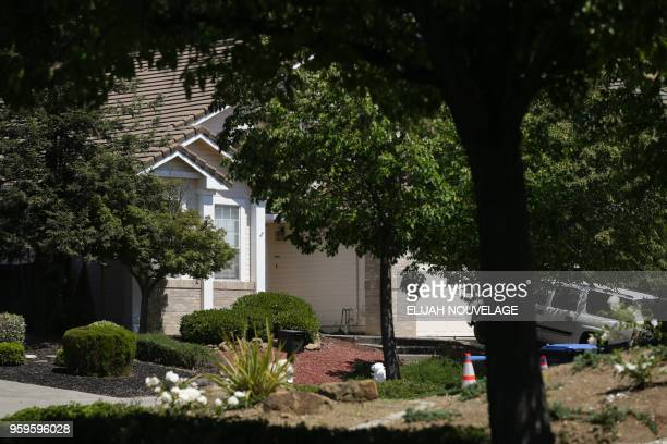 The front of the home where ten children were allegedly tortured and abused is seen on May 17 in Fairfield California A 29yearold California man...