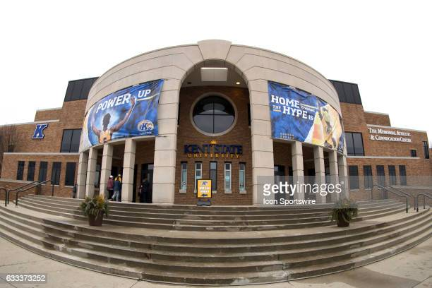The front of the Memorial Athletic and Convocation Center prior to the men's college basketball game between the Central Michigan Chippewas and Kent...