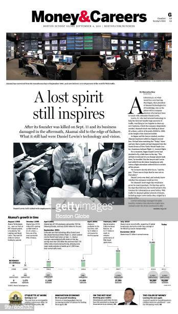 The front of the Money Careers section of the Boston Globe on Sept 4 2011 An article talks about Akamai and Daniel Lewin