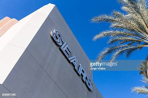the front of the sears store inside a mall galleria - willis tower stock photos and pictures