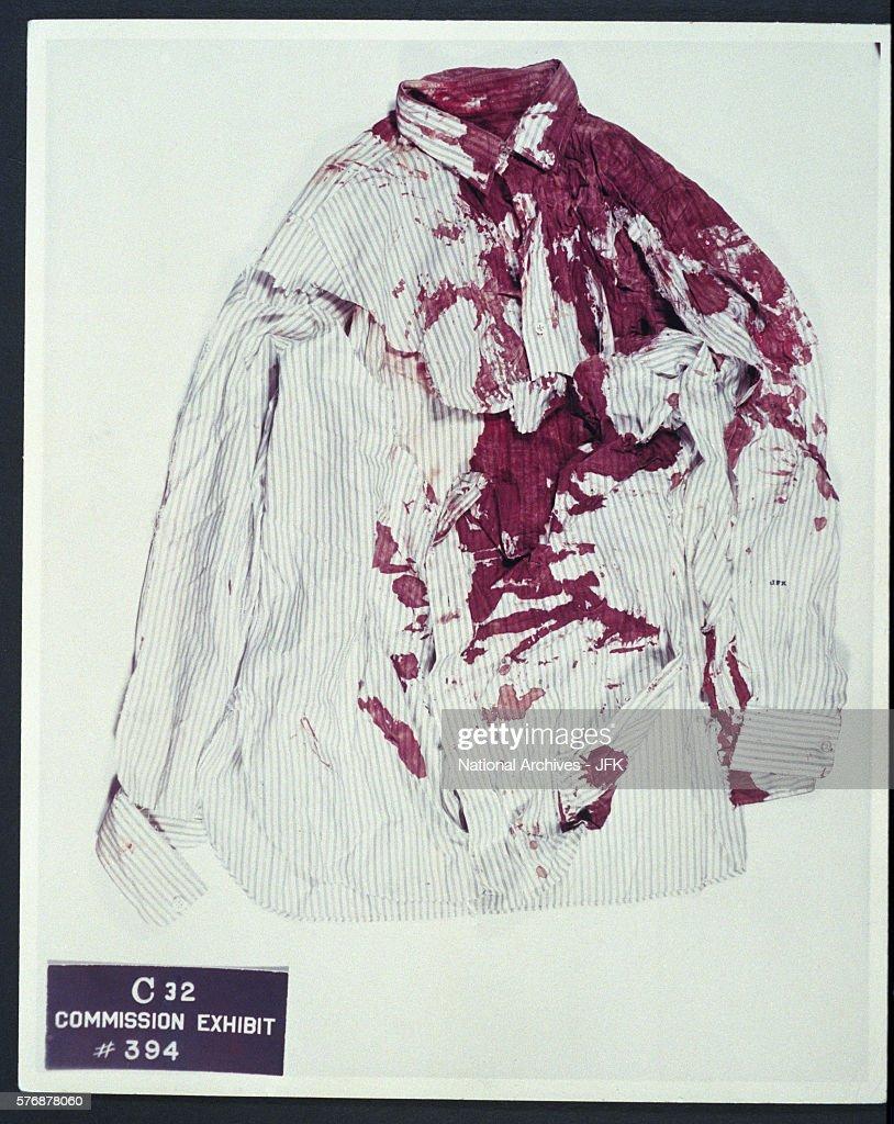 John F. Kennedy's Bloody Shirt : News Photo