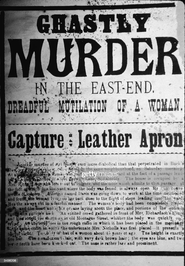 Newspaper Reports On Jack The Ripper : News Photo