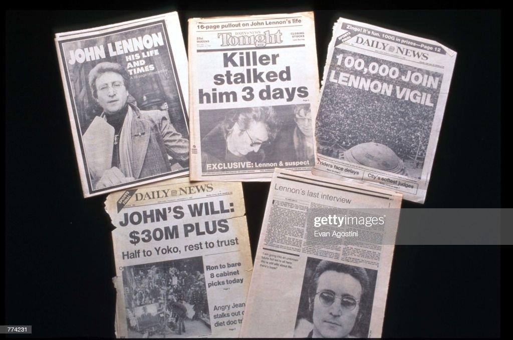 Remembering John Lennon's Death : Nachrichtenfoto