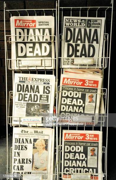The front pages of the British newspapers on the day of Princess Diana's death in London, England on 31 August, 1997.
