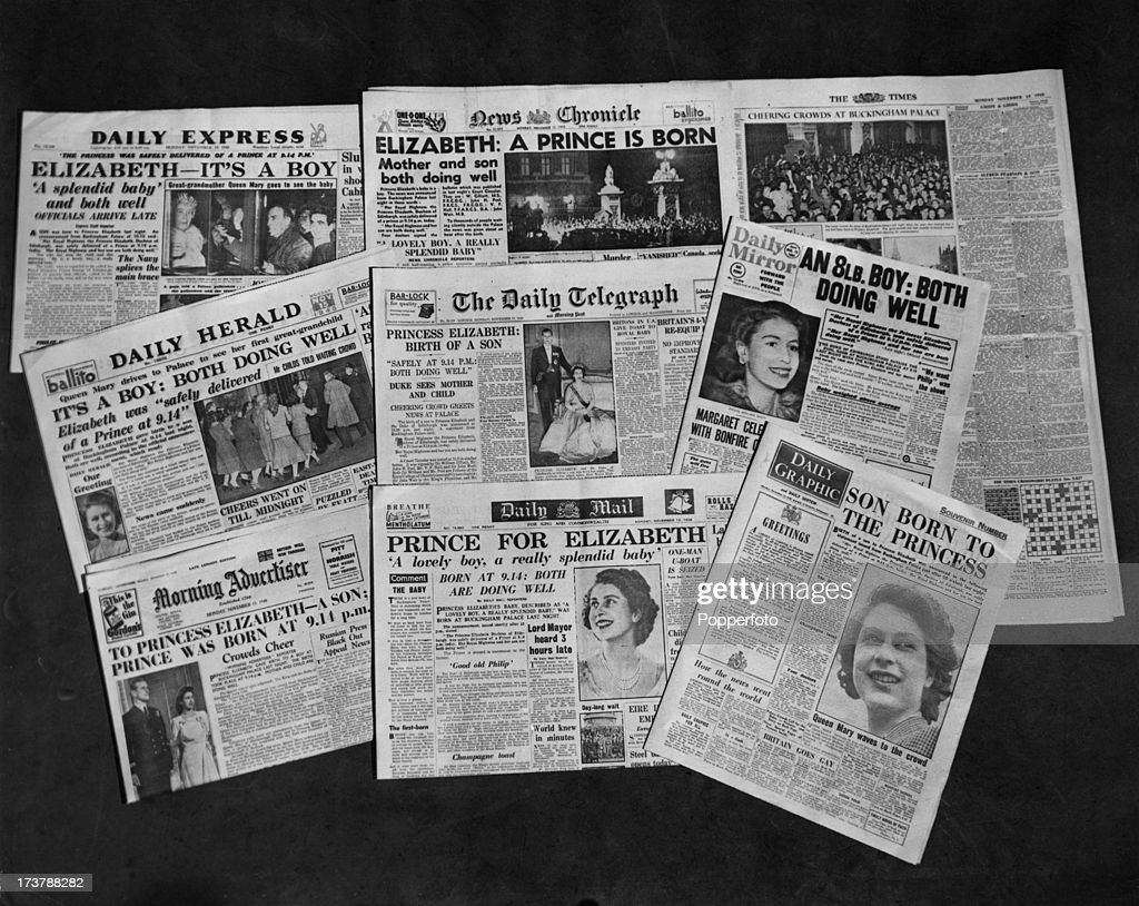 Newspapers Headline Royal Birth : ニュース写真
