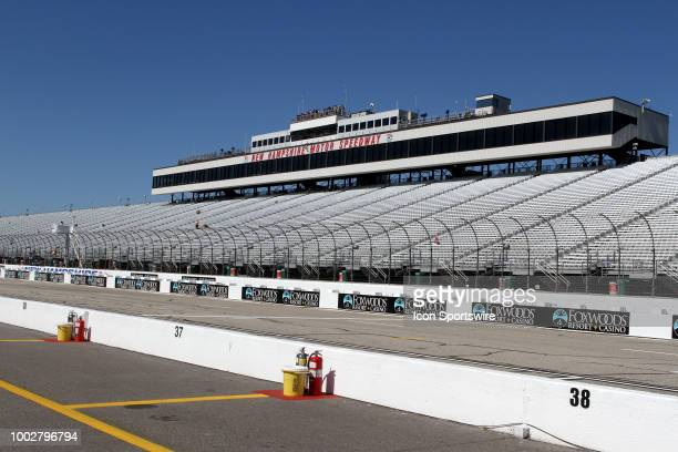 The front stretch at New Hampshire Motor Speedway before practice for the Monster Energy Cup Series Foxwoods Resort Casino 301 race on July 2018 at...