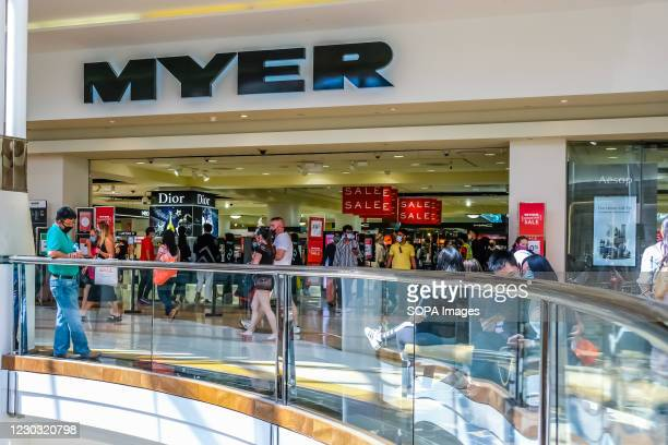 The front view of Myer department store seen in Chadstone Shopping Centre on Boxing Day.
