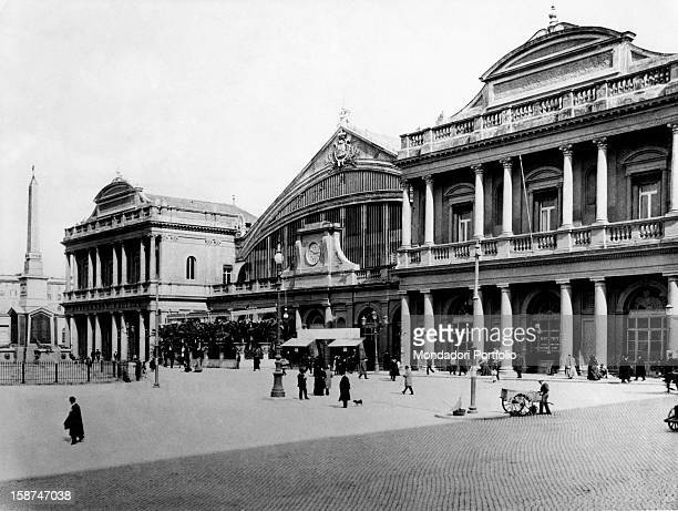 The frontage of the Roma Termini railway station Rome 1887