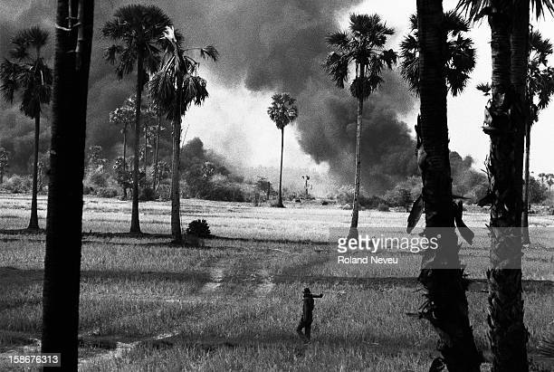 The frontline was pretty close to the city already in midsummer 1973 At this time the US airpower was still use everyday to repel the Khmer Rouge...