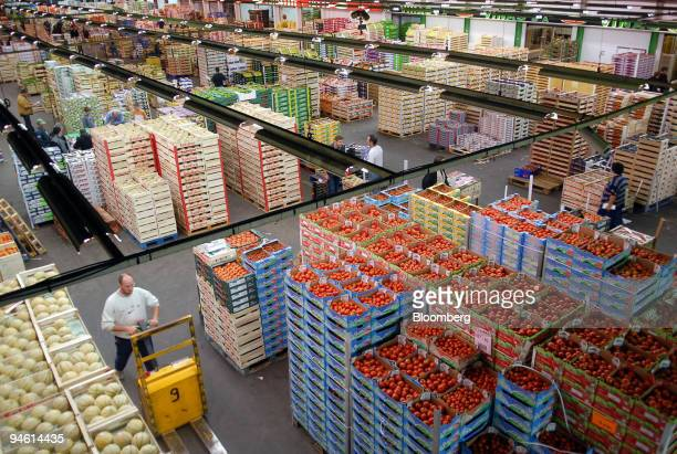 The fruit and vegetable department is seen at the Rungis market in the Paris suburb of Rungis on Friday August 25 2006 It's 315 am and Gregory Herve...