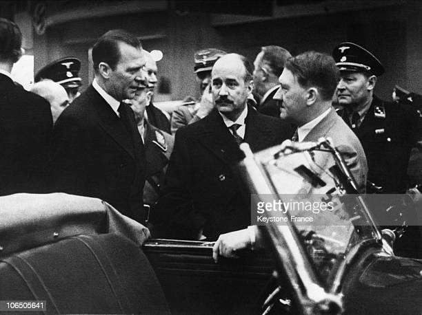 The Fuehrer With The French Ambassador Francois Poncet Admiring A Car In Berlin