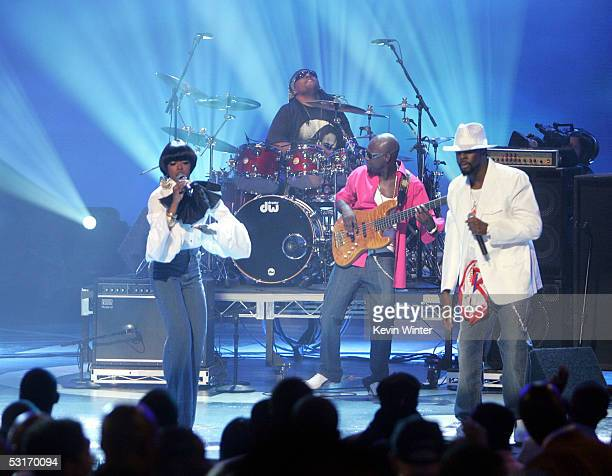 The Fugees perform onstage at the BET Awards 05 at the Kodak Theatre on June 28 2005 in Hollywood California