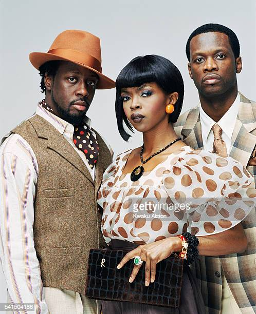 Wyclef Jean Lauryn Hill and Pras are photographed for Essence Magazine in 2005 in South Beach Miami Florida