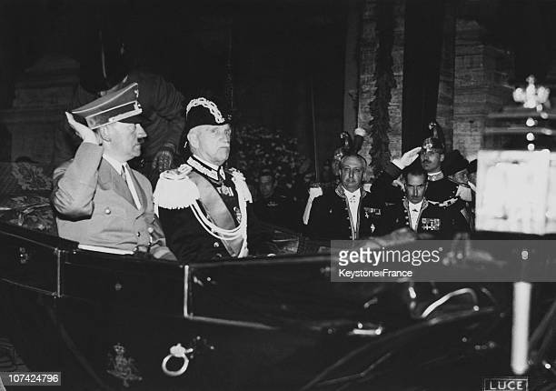 The Fuhrer And The Governor Of Rome At Rome In Italy On 1938