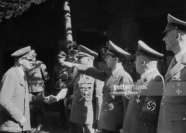 The Fuhrer Goring Goebbels And Officers In Germany On August 6Th 1944