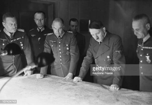 The Fuhrer In The Headquarter Of Ground Commandment With Officers In Germany On August 7Th 1941