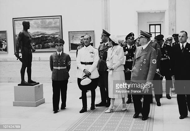 The Fuhrer Visiting A Museum Exposition In Germany On July 16Th 1939