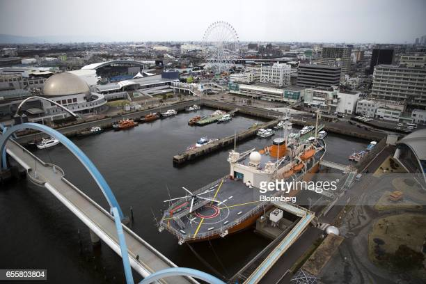 The Fuji Icebreaker ship which now functions as a maritime museum sits moored at the Nagoya Port in Nagoya Japan on Saturday March 18 2017 Japan is...