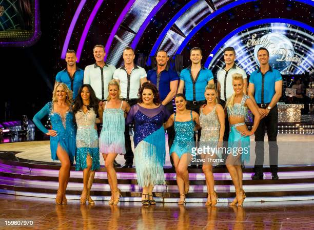 The full cast attend a photocall ahead of the Strictly Come Dancing Live Tour at NIA Arena on January 17 2013 in Birmingham England