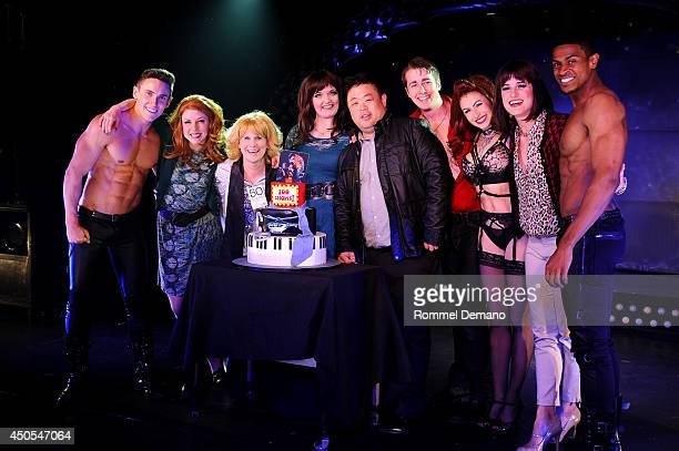The full cast of 50 shades attends '50 Shades The Musical' 100th Performance Celebration at Elektra Theatre on June 12 2014 in New York City