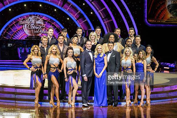 The full cast of Strictly Come Dancing 2015 attends a photocall to launch the Strictly Come Dancing Live Tour 2015 at Birmingham Barclaycard Arena on...