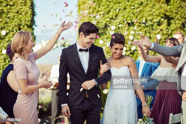 the fun has only just begun - wedding ceremony stock pictures, royalty-free photos & images