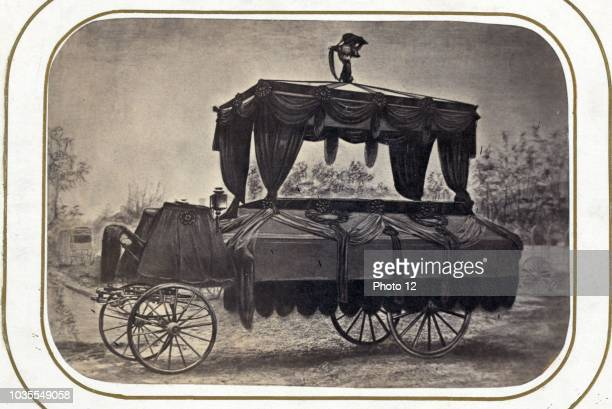 The funeral car that conveyed the remains of President Lincoln from the Executive Mansion to the Capitol after his death April 19th 1865