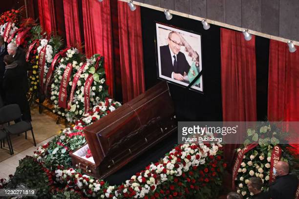 The funeral ceremony of late Kharkiv city head Hennadii Kernes is underway at the Mykola Lysenko National Academic Opera and Ballet Theatre, Kharkiv,...