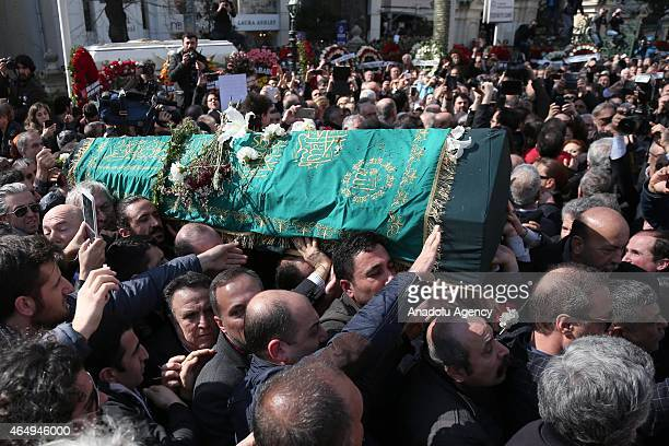The funeral ceremony of Turkish author Yasar Kemal who died at the age of 92 on 28th of February 2015 due to a cardiac arrhythmia and difficulty...