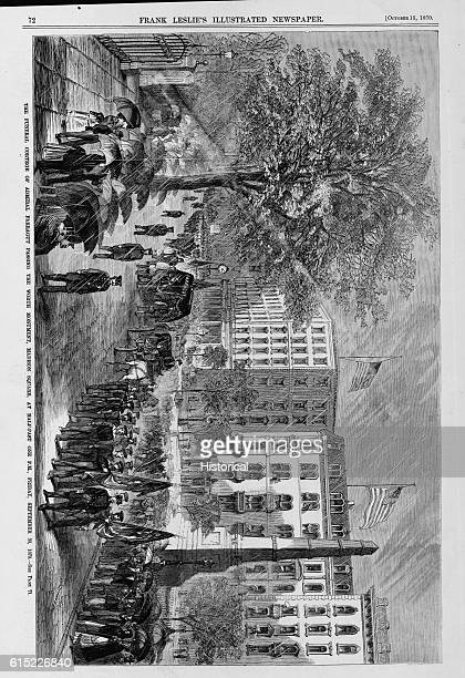 The Funeral Cortege of Admiral Farragut Passing the Worth Momument Madison Square at HalfPast one PM Friday September 30 1870