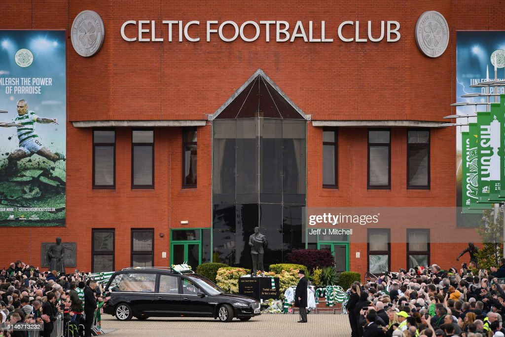 Funeral Of Lisbon Lion Billy McNeill Takes Place At Celtic Park : Foto jornalística