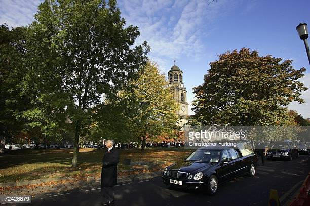 The funeral cortege of sevenyearold Christianne and sixyearold Robert Shepherd leaves St John's Church during their funeral on November 7 Wakefield...