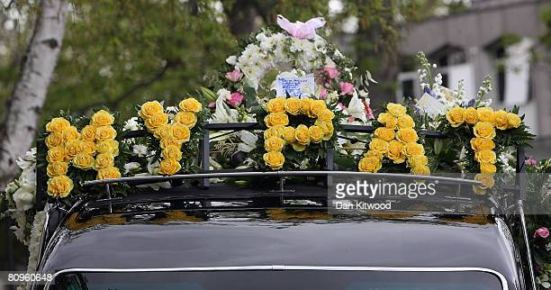 The funeral courtage for Pat Lampard's funeral arrives at St Margarets Church on May 2 2008 in Barking England