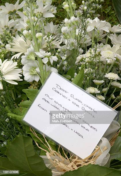 The Funeral Of Caron Keating At Herver Castle In Kent