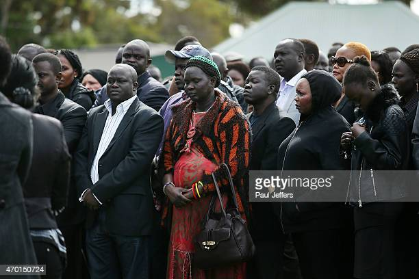 The funeral of children Bol Anger and Madit who were tragically killed when their mother Akon Guode veered off the road at Wyndham Lakes on April 8...