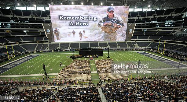 The funeral of Chris Kyle was held at Cowboys Stadium in Arlington Texas Monday February 11 2013 Kyle was a highly decorated former Navy SEAL sniper...