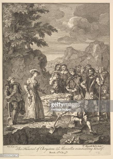 The Funeral of Chrystom Marcella vindicating herself 1756 or after Artist William Hogarth