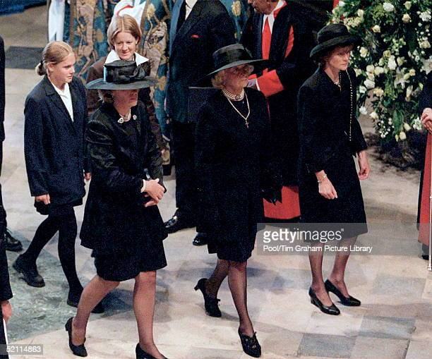 The Funeral Of Diana Princess Of Wales At Westminster Abbey In London Jane Fellowes Mrs Frances Shandkydd And Lady Sarah Mccorquodale Behind Them Are...