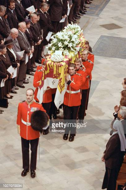 The funeral of Diana, Princess of Wales at Westminster Abbey, London. 6th September 1997.