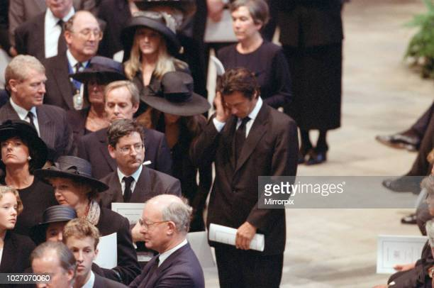 The funeral of Diana Princess of Wales at Westminster Abbey London Among the mourners are Lady Annabel Goldsmith Imran Khan and his wife Jemima Khan...